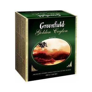Greenfield - Чай черный золотой цейлон (100 шт./2 г./1 уп.)
